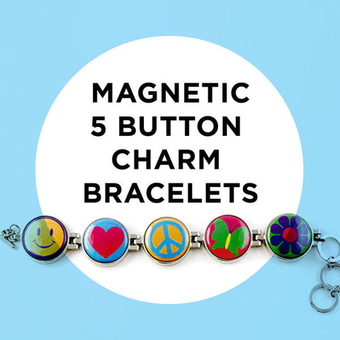 Magnetic Five-Button Bracelets and Charms
