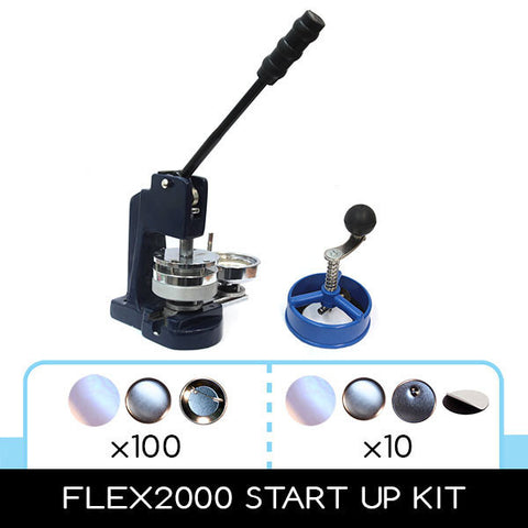 multi size button making kit with pin parts and magnet making supplies
