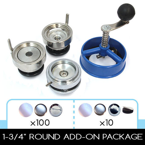 "1.75 inch button die and 1-3/4"" circle cutter for use with FLEX2000 multi-size button maker press"