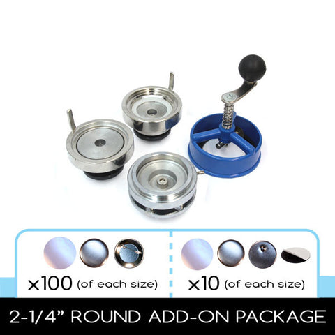 multi size button making kit with pin parts and magnet making supplies from People Power Press
