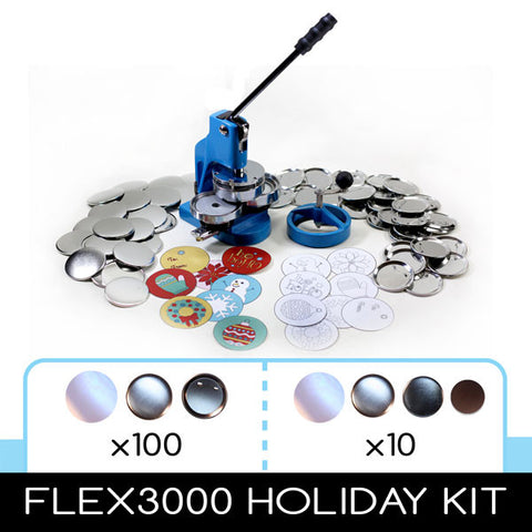 "FLEX3000 3"" Round Button Holiday Kit"