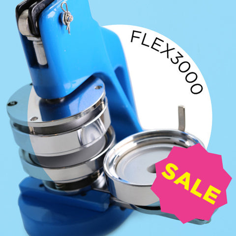 "FLEX3000 3"" Round Button Maker & Start Up Kits"