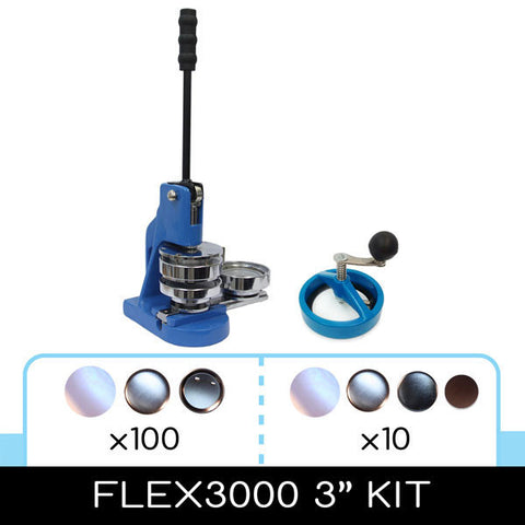"flex3000 3"" sliding die button maker kit"