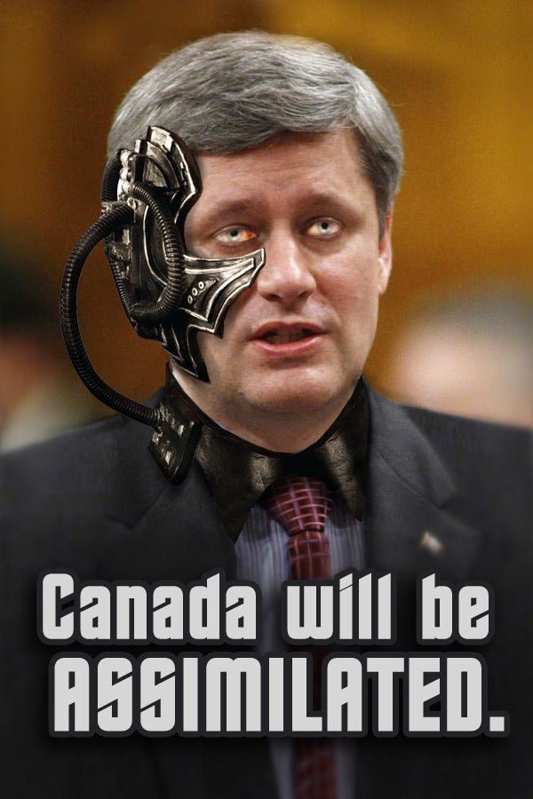 Stephen Harper will assimilate Canada