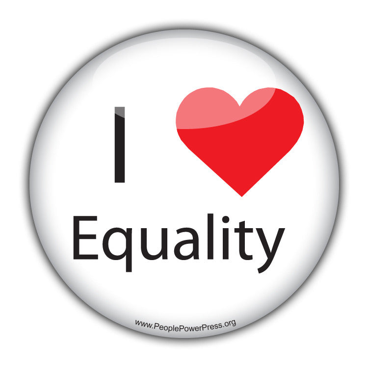 I Heart Equality - Civil Rights Button