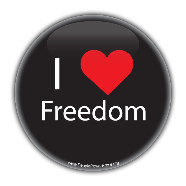 I Heart Freedom - Civil Rights Button