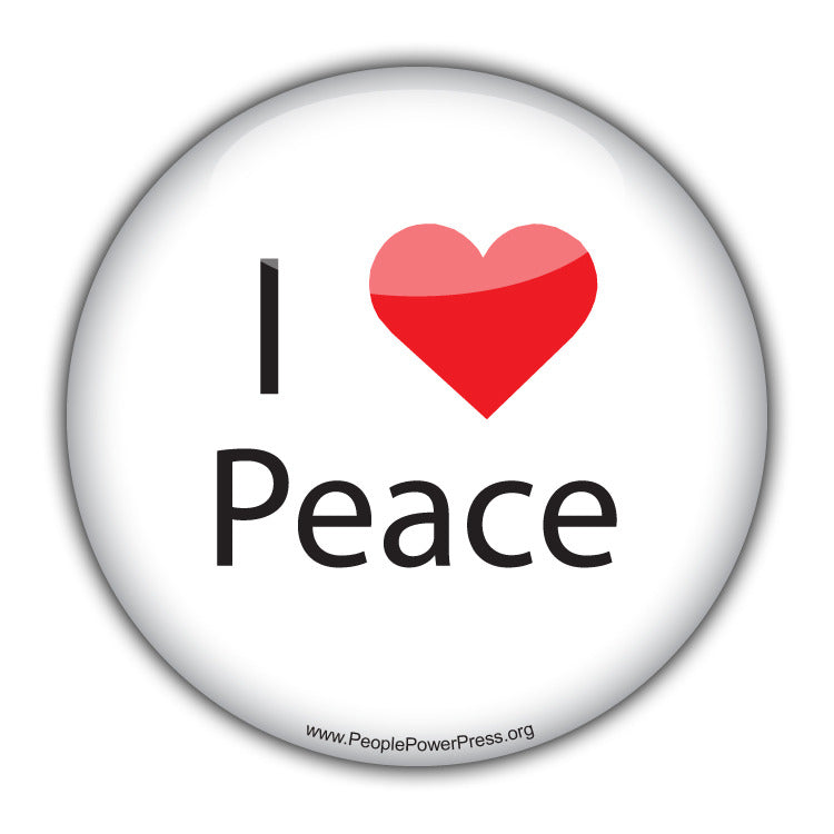 I Heart Peace - Civil Rights Button