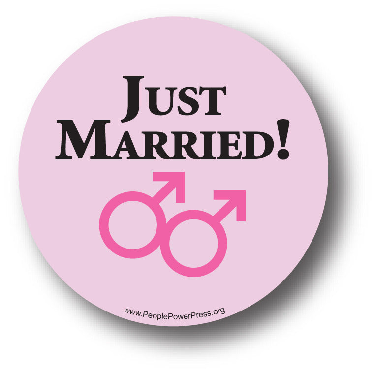 Just Married - Boys - Queer Button