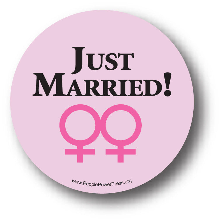 Just Married - Girls - Queer Button