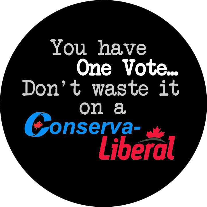 You Have One Vote - Don't Waste it on a Conserva-Liberal