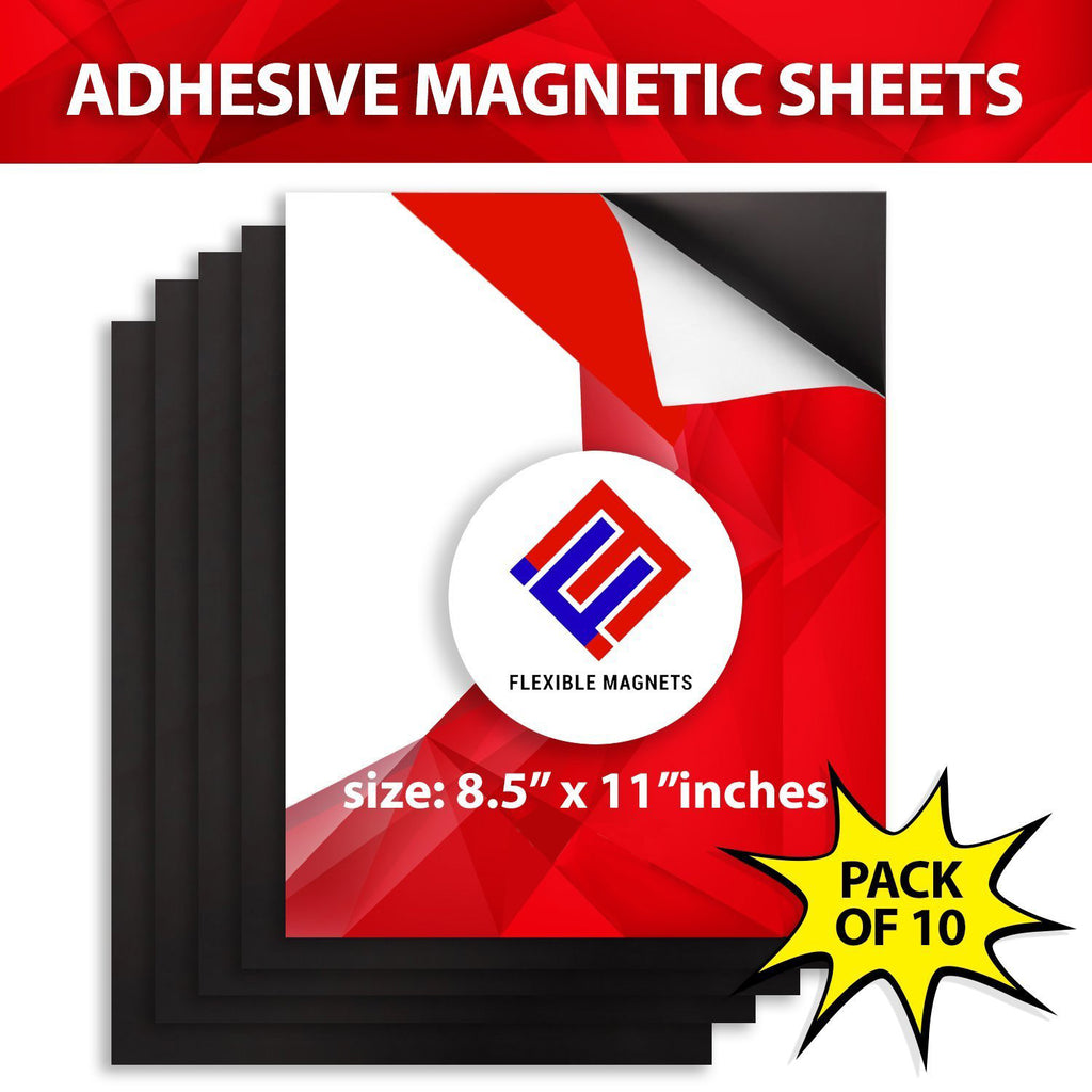 "SALE: Magnetic Sheets Letter size 8.5"" x 11"" Adhesive 15 mil Magnet Peel & Stick"