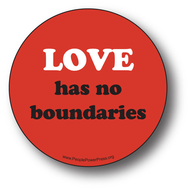 Love Has No Boundaries - Queer Button