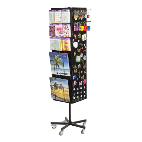 revolving magnet stand with souvenir sections