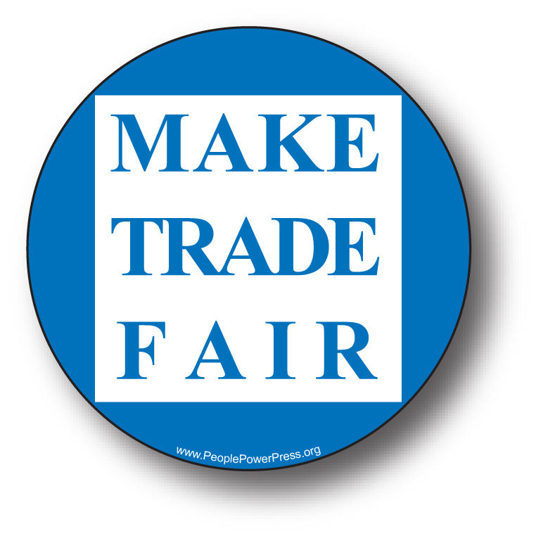 Fair Trade - Make Trade Fair - Blue