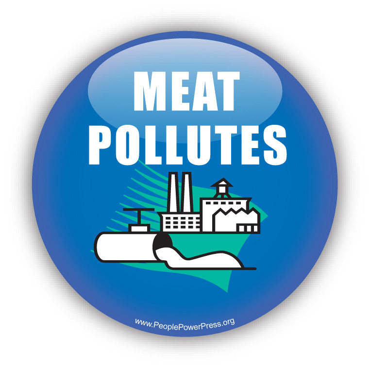 Meat Pollutes - Vegetarian Button