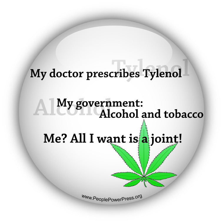 My Doctor Prescribes Tylenol. My Government: Alcohol and Tobacco. Me? All I want is a Joint! - White - Quality of Life