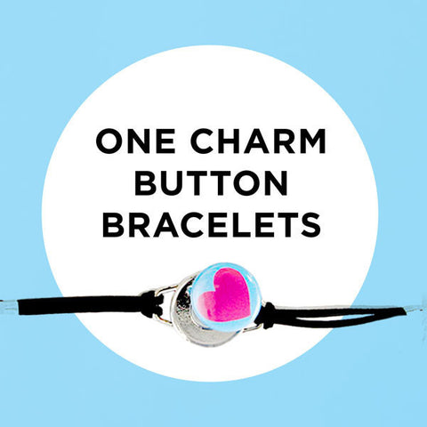 DIY One Charm Magnetic Button Bracelets by ArtClix