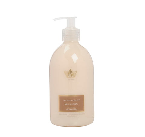 Perth Soap Co. Creamy-Smooth, Argan Oil enriched Body Lotion, Milk & Honey Scented