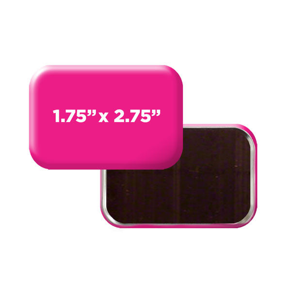 "custom rounded rectangle 1-3/4"" x 2-3/4"" magnets"