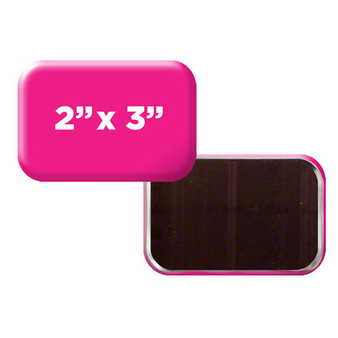 "custom rounded rectangle 2"" x 3"" magnets"