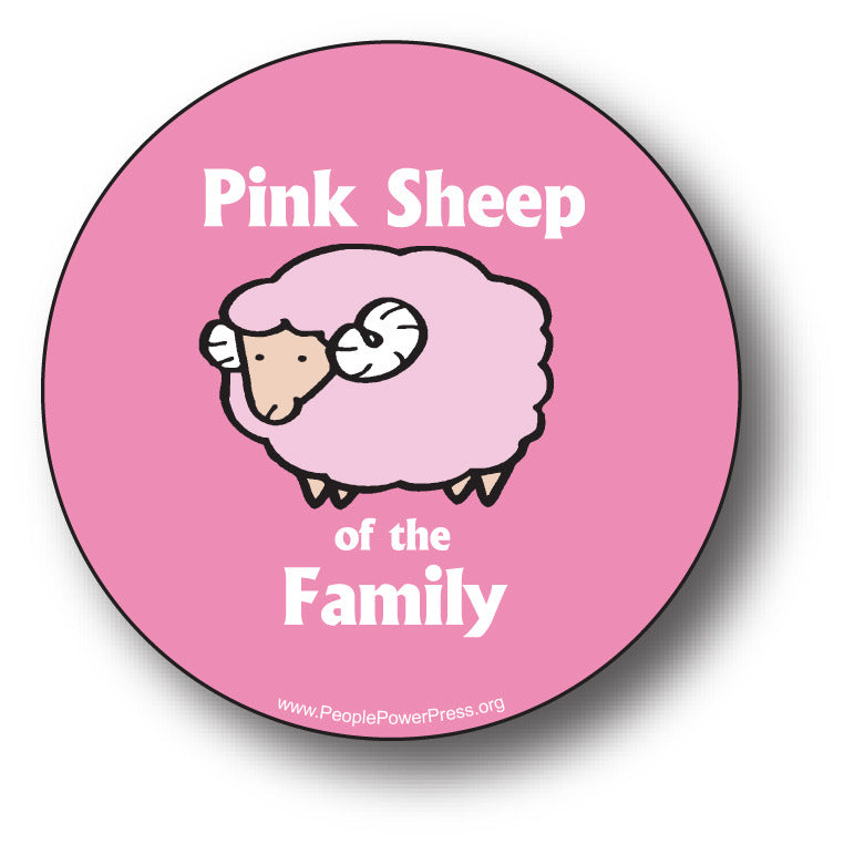 Pink Sheep Of The Family - Queer Button