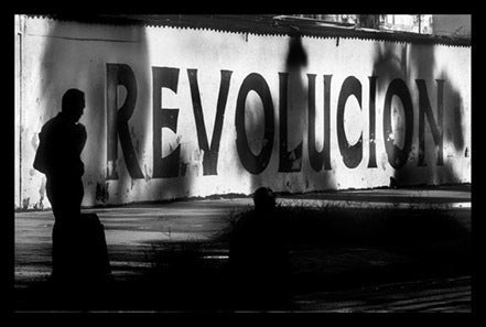 Revolucion Poster    R-E-V-O-L-U-T-I-O-N! available as a poster or postcard