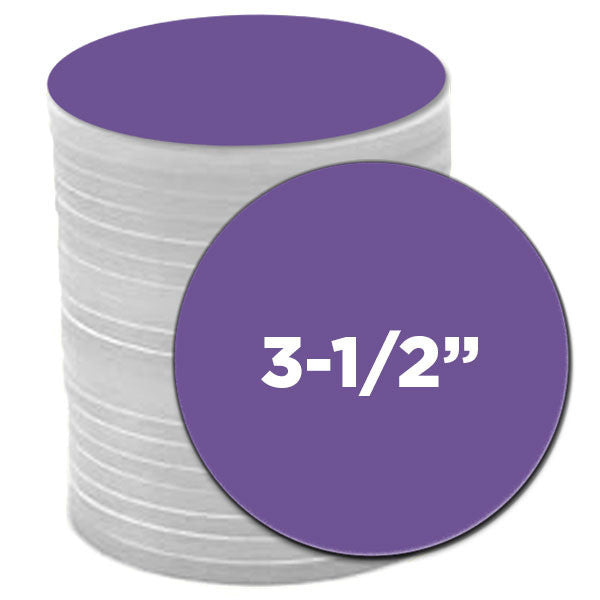 3.5 inch pre-cut circles for button making