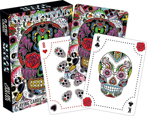 Aquarius Sugar Skulls Playing Cards
