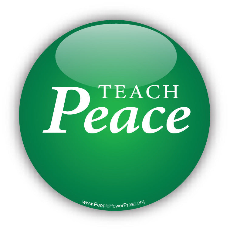 Teach Peace Button Design