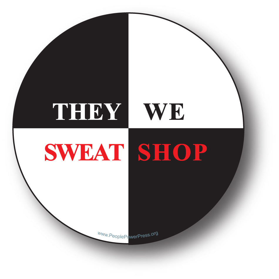 They Sweat We Shop - Black