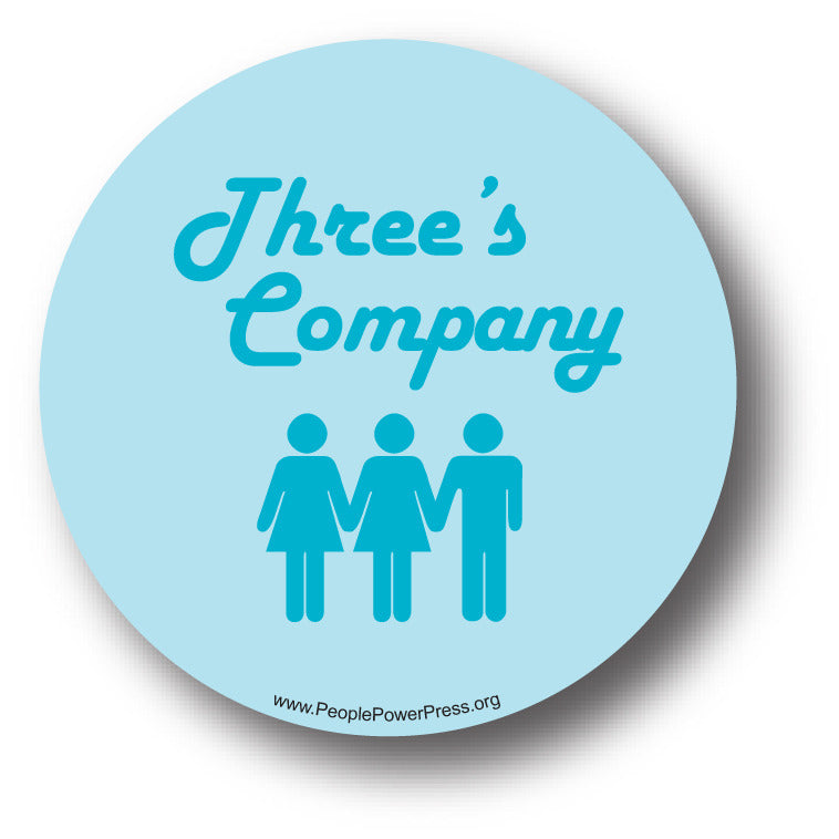 Three's Company - Blue - Queer Button