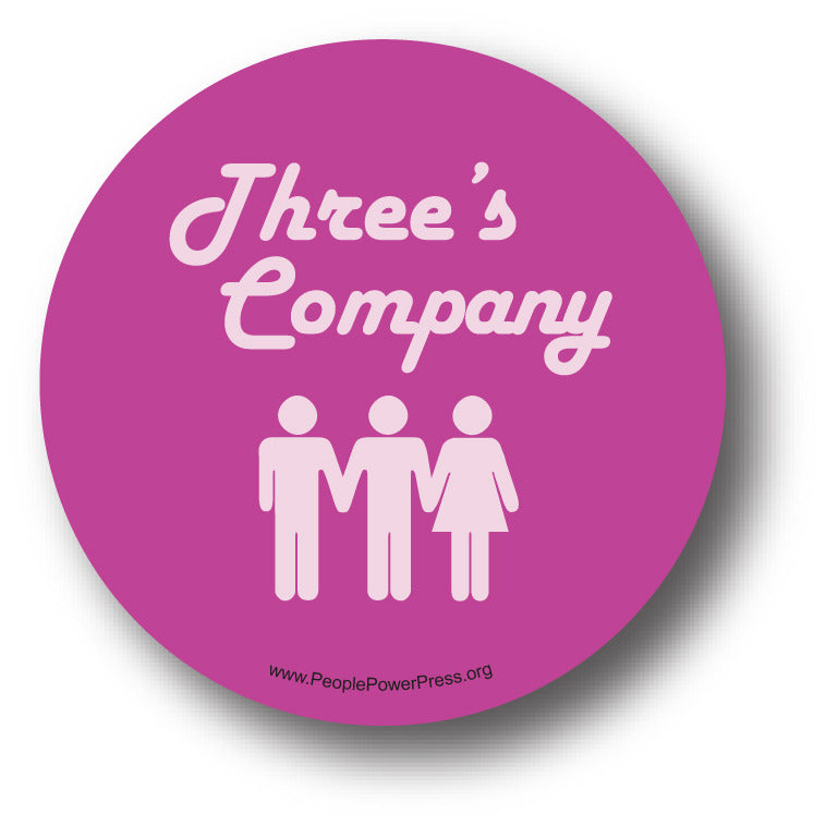 Three's Company - Queer Button