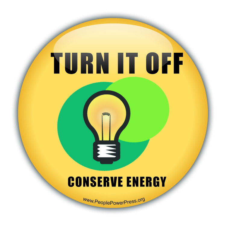 Turn It Off! Lightbulb - Conservation Button