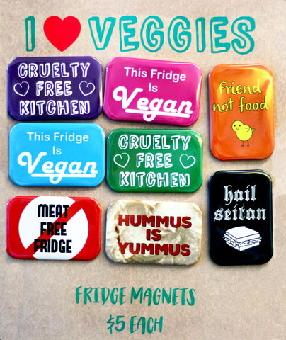 I (Heart) Veggies Fridge Magnets