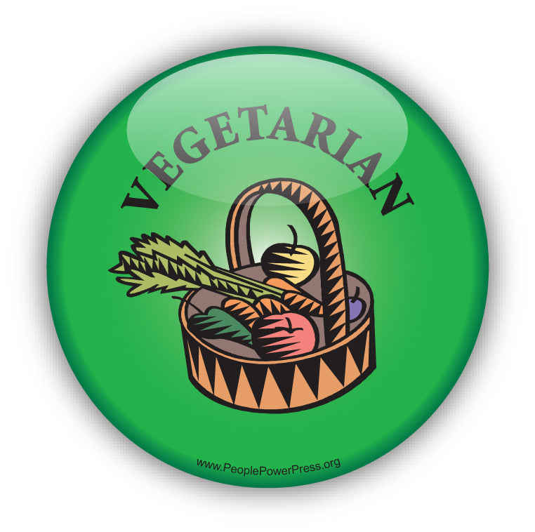 Vegetarian Button - Green