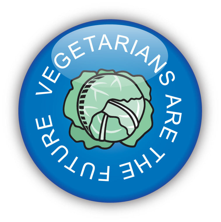 Vegetarians Are The Future - Blue - Vegetarian Button