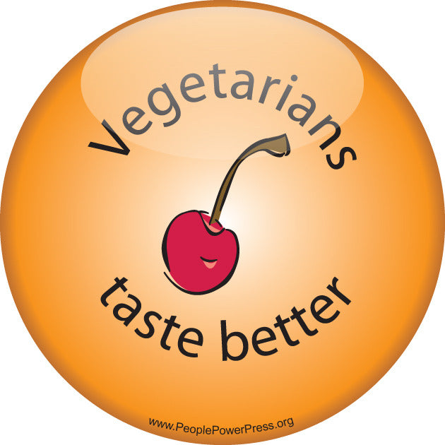 Vegetarians Taste Better - Orange - Vegetarian Button