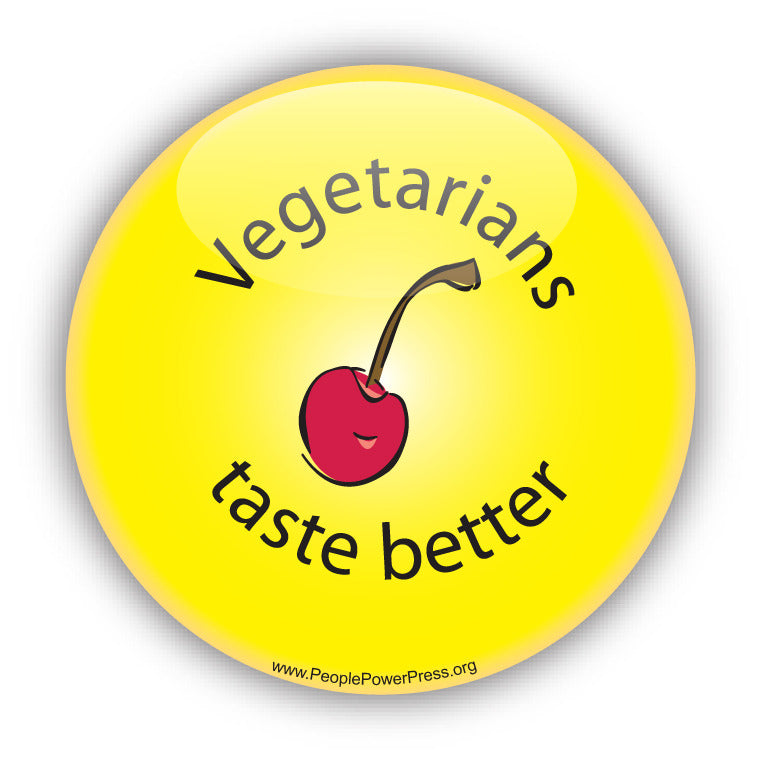 Vegetarians Taste Better - Yellow - Vegetarian Button