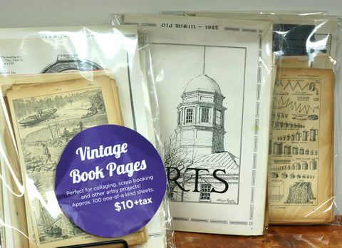 Vintage Book Pages - Craft Item, Make Upcycled Buttons and More!