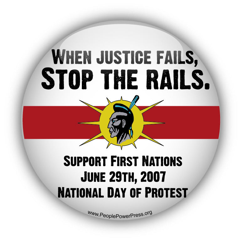 When Justice Fails... - Civil Rights Button