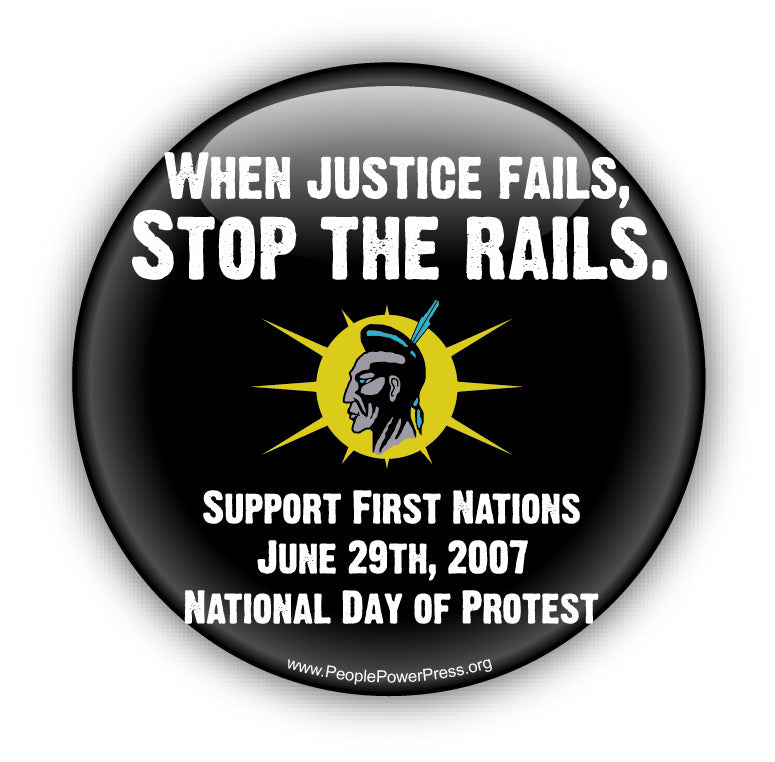 When Justice Fails... - Black - Civil Rights Button