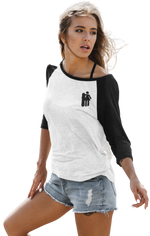 Load image into Gallery viewer, Woman with Snowboard 3/4 Tee