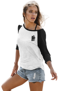 Woman with Snowboard 3/4 Tee