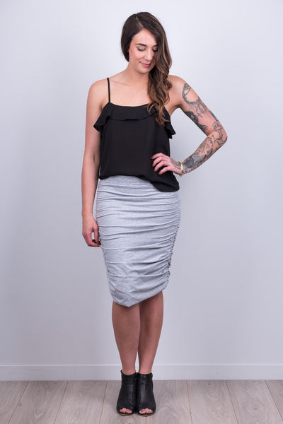 Beaut Grey Skirt from White Chalk Ltd