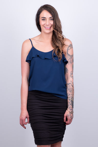 Beaut Cami Navy from White Chalk Ltd