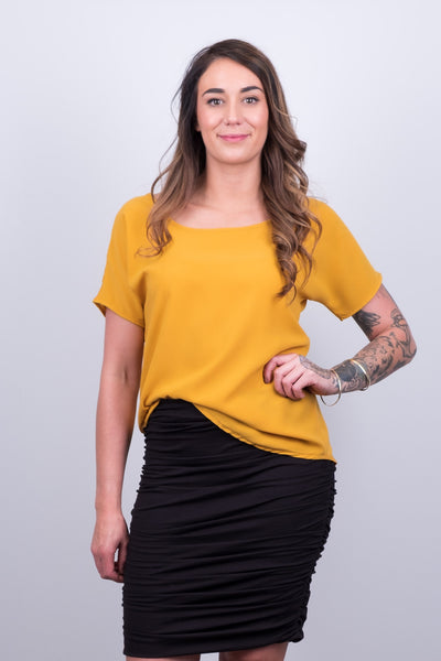 Beaut Mustard Tee from White Chalk Ltd