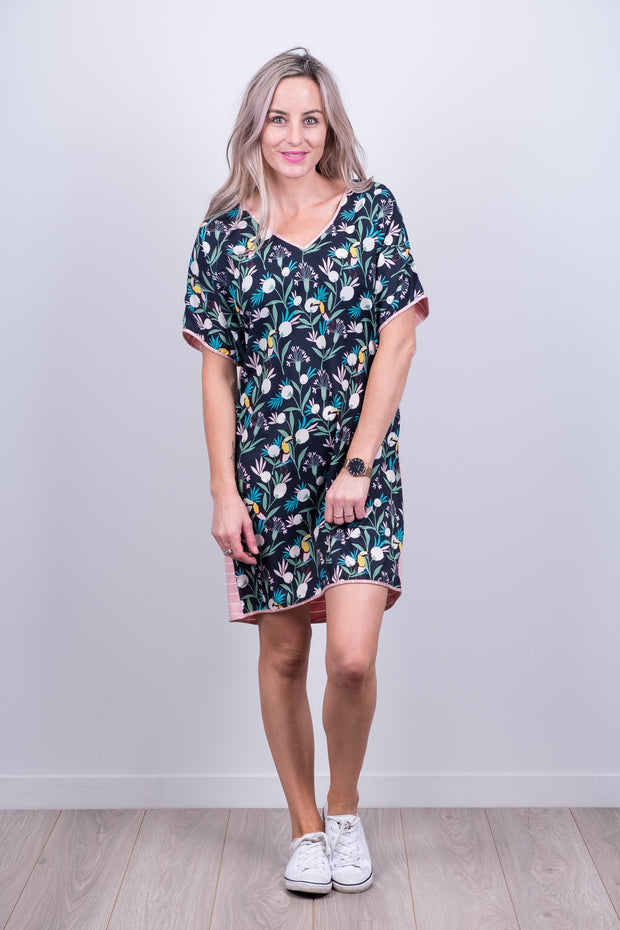 Navy Tucan Clara Dress from White Chalk Ltd