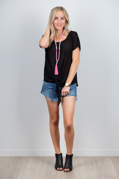 Black Beau Top from White Chalk Ltd