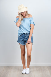 Soft Blue Darcie Top from White Chalk Ltd