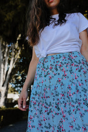 Hazel Skirt - Light Blue Floral